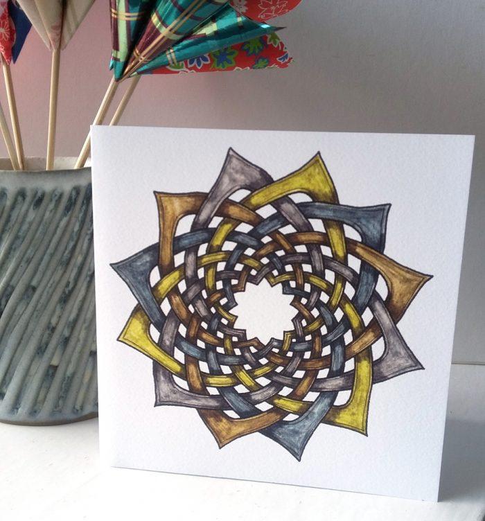 Celtic Floral greetings card