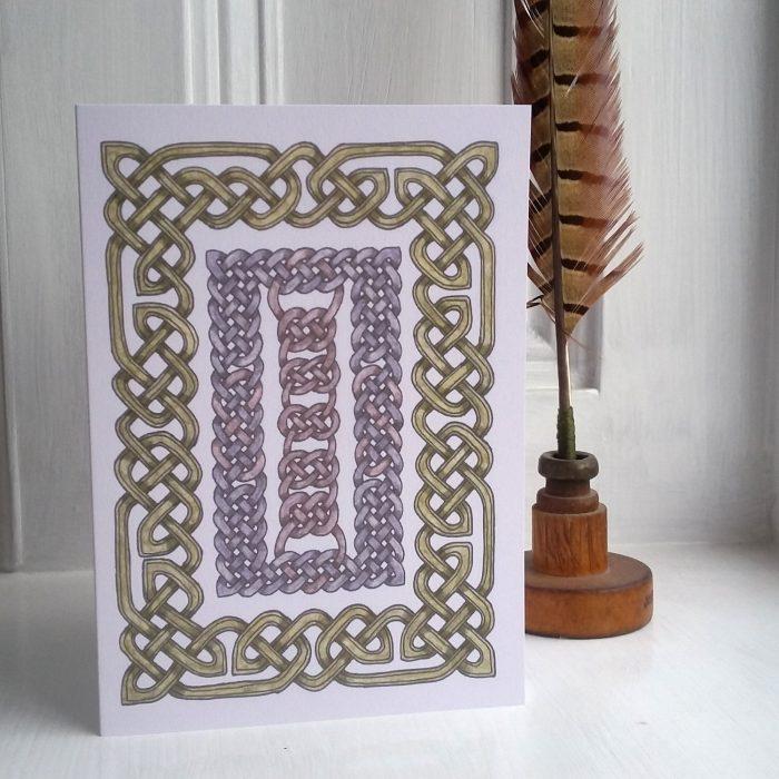 Celtic Framed Knots greetings card