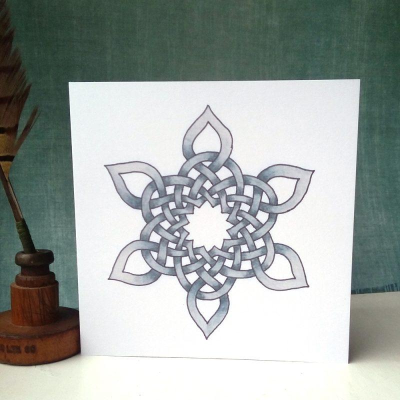 Celtic Snowflake greetings card