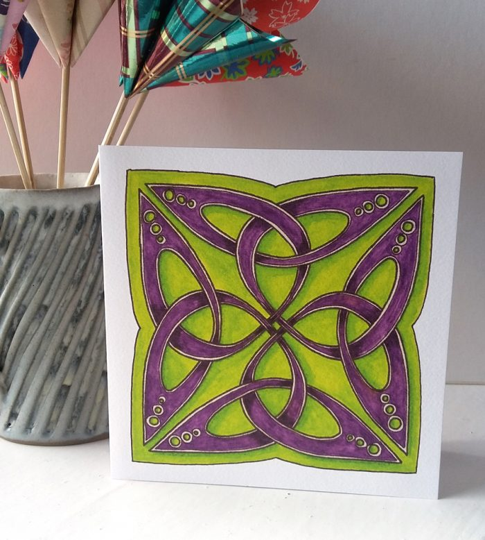 Celtic Trefoil Square greetings card