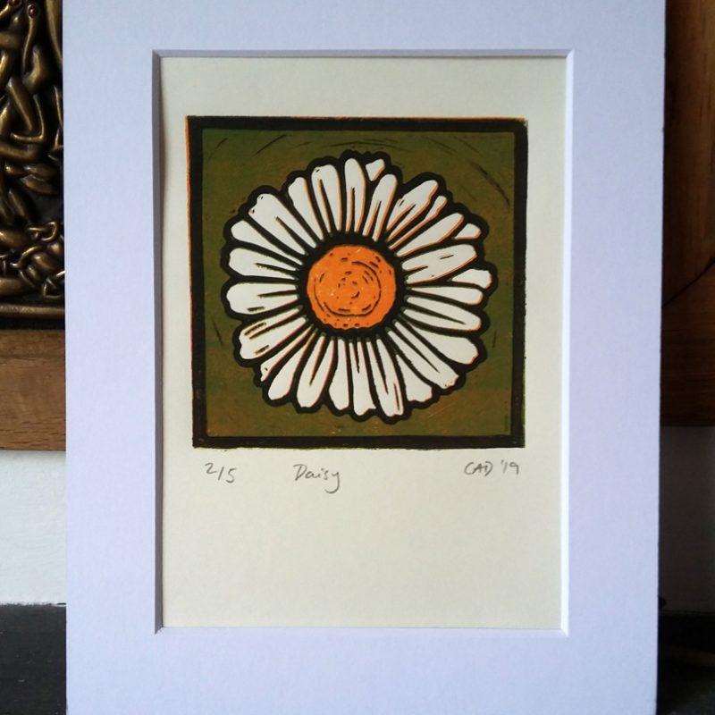 Daisy lino print