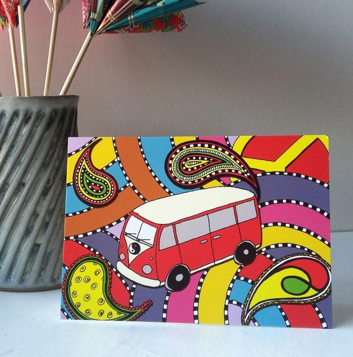 Love Bus greetings card