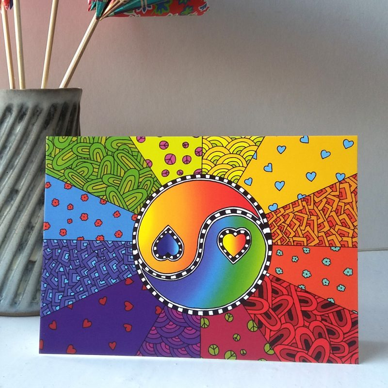 Love Yin Yang greetings card