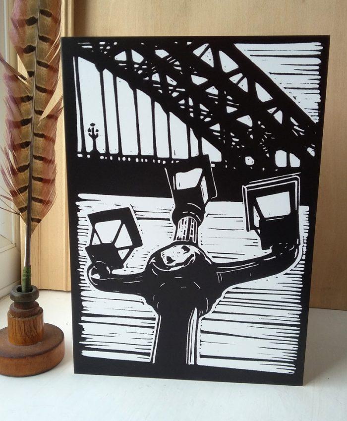 The Lamps of Tyne Bridge A5 greetings card
