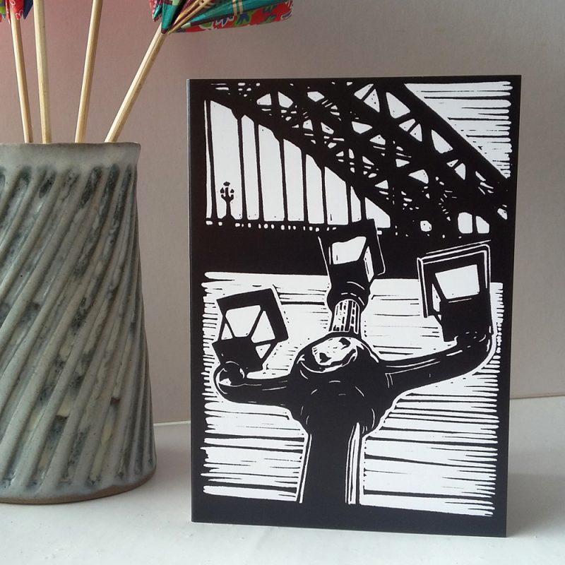 The Lamps of Tyne Bridge greetings card