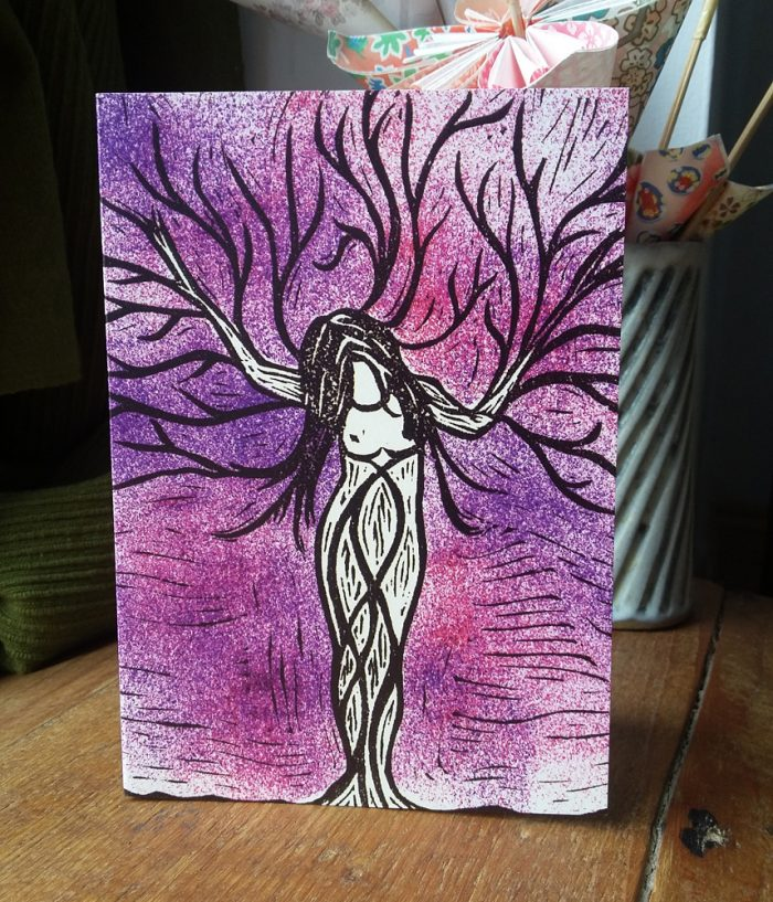 Tree Nymph greetings card