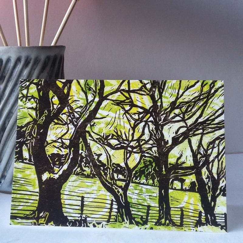 Trees Along the Wear Valley greetings card