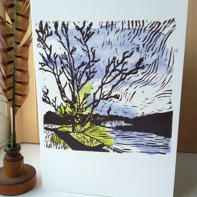View from Chesters Fort A5 greetings card
