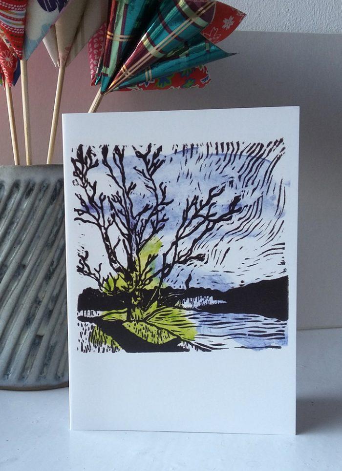View from Chesters Fort greetings card