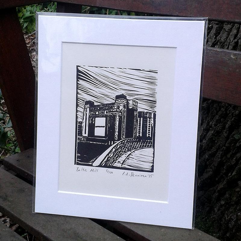 Baltic Mill lino print