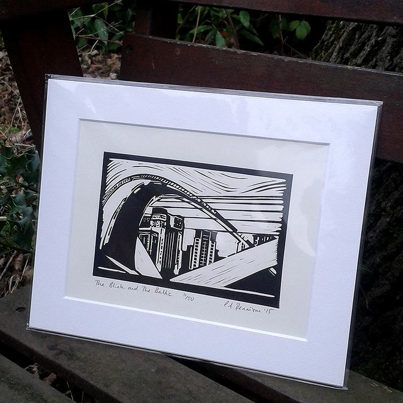 The Blink and The Baltic lino print